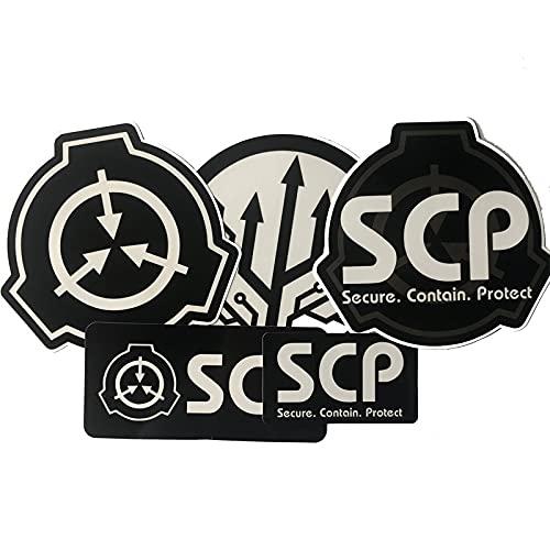 LSPLSP Scp Shelter Foundation, adesivo decorativo per auto e bagagli, 5 pezzi