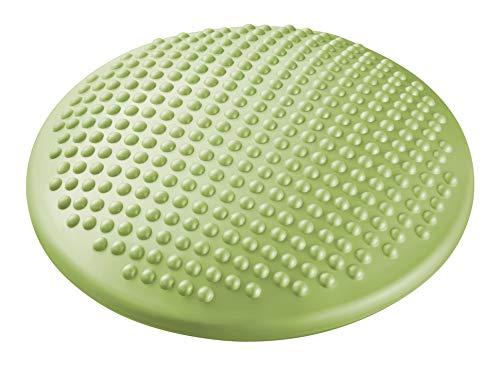 ecowellness Massage und Balance-Kissen mit Noppen 38cm groß orthopädisches Sitzkissen Fußmassage Bodenkissen inkl Luftpumpe