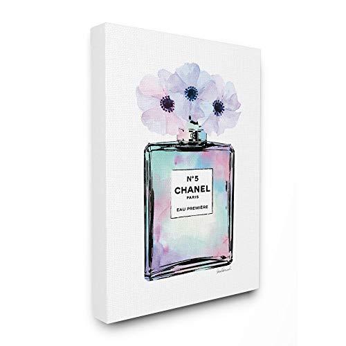 Stupell Industries Purple Flower Perfume Glam Fashion Design, Designed by Amanda Greenwood Wall Art, 16 x 1.5 x 20, Canvas