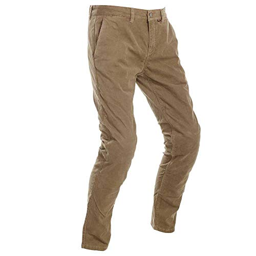 Richa Brooklyn - Pantalones vaqueros para motociclista, color beige marrón marrón 36