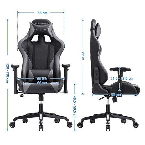 SONGMICS Gaming Stuhl 150 kg Bürostuhl Bild 6*