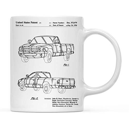 Tasse,Kaffeebecher,Kaffeetasse,Becher,Dodge Ram 1997 Patent 1 Cup, Dodge Truck, Autoenthusiast, Truck Wall Art, Man Cave,(11Oz) 330Ml