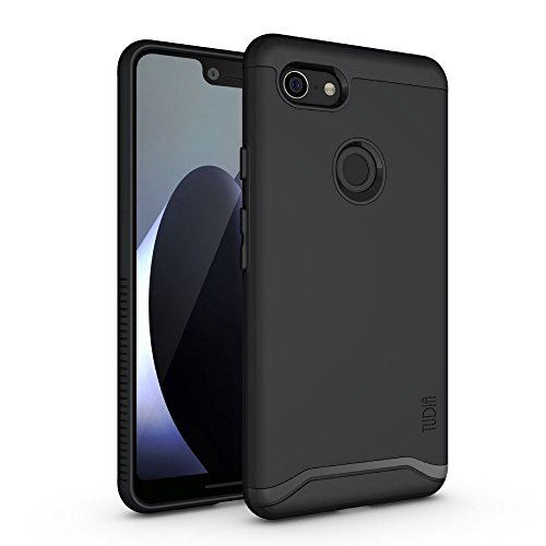 TUDIA Merge Designed for Google Pixel 3 XL Case with Dual Layer Protection (Matte Black)
