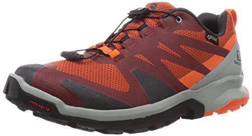 SALOMON Calzado Bajo XA ROGG GTX, Zapatillas de Trail Running Hombre, Burnt Brick/PHA, 42 EU