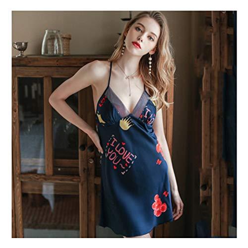 Ice Silk Strap Nachthemd Vrouwen Thin Lace Halter Borst Pad Beauty Terug Pyjama Kan Worden Gedragen Outside