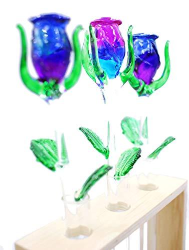 I-DO-CARE Kristallrose, Blumenvasen, Glasrose, Briefbeschwerer, Glas-Rosen, Blumenständer, Kristallschmuck, Dekoration für Immer Rose, Valentinstag, Hochzeitsgeschenke, künstliche Rosen