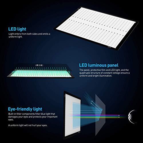 Icetek Mesa de luz LED A4