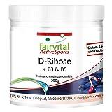 D-Ribosa en polvo - Pura - Enriquecida con Vitamina B3 y B5 - VEGANA - 300g - Calidad Alemana
