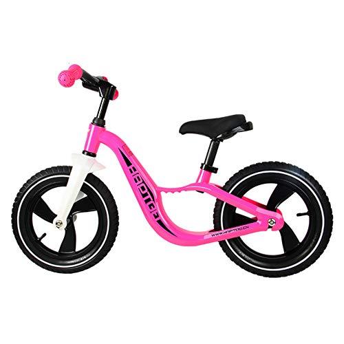 MENGLJ Balance Bike 2 3 4 Und 5 Jahre Altes Trainingsrad - Cooles Farbschubrad Geeignet Für Kleinkinder/Pedallose Roller (mit Fußhocker),Pink