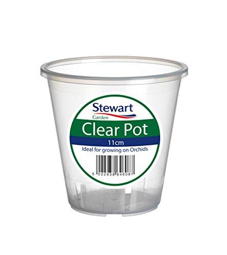 Stewart 2646008 - Clear Pot Vaso Redondo para Orquídeas, Transparente