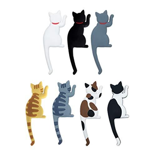 Ymwave 7 Pcs Cat Refrigerador Imán Refrigerador Sticker Para Horno Microondas Cocina Decoración