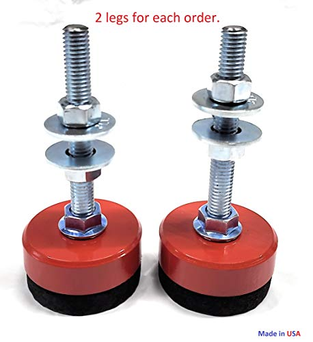 Why Should You Buy Anti Vibration Machine Lathe legs, Workbench Table Leveling Feet Foot Pad, 2.5 x...