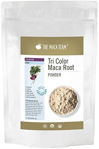 Rohes Premium Maca Wurzel Pulver – 454g – wirksamstes Maca überhaupt, bio- zertifiziert, frische Ernte aus Peru, Fair Trade, gentechnikfrei, glutenfrei, vegan, 50 Portionen