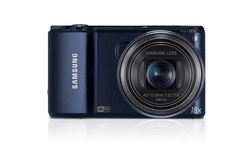 Samsung WB200F Kompaktkamera (14,2 Megapixel, 18-Fach optischer Zoom, 7,6 cm (3 Zoll) Touchscreen) schwarz
