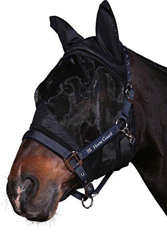 Horse Guard Fliegenschutzmaske für Pferde mit UV Schutz Fly Mask with Fleece and UV Protection, Gr.S