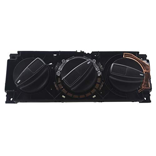 KASturbo 1H0820045D Interruptor de control calentador aire acondicionado, Perilla de la unidad de control del panel del calentador de aire acondicionado para Cabrio Cabriolet Golf Jetta MK3 VENTO