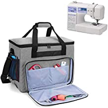 Teamoy Sewing Machine Bag, Travel Tote Bag for Most Standard Sewing Machines and Accessories, Gray