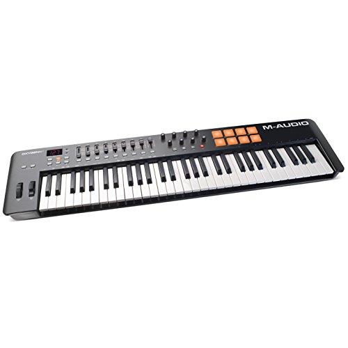 M-Audio Oxygen 61 IV - USB MIDI Keyboard Controller mit mit anschlagdynamische Tasten, VIP 3.0, Ableton Live Lite, SONiVOX Twist, Xpand2 Inkl.