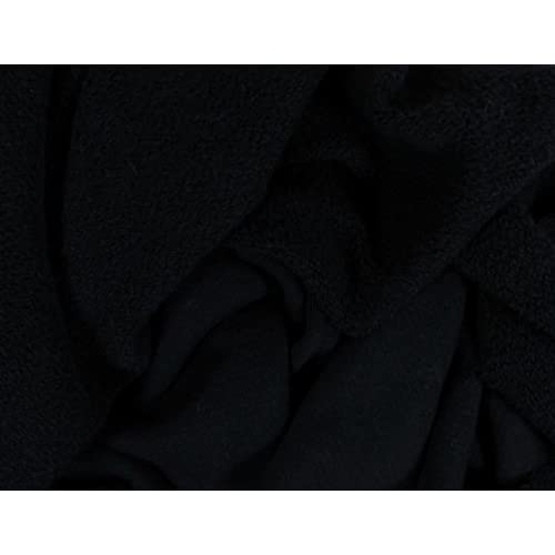 1908587e337 Organic Cotton Heavyweight French Terry Fabric - Black - By the Yard