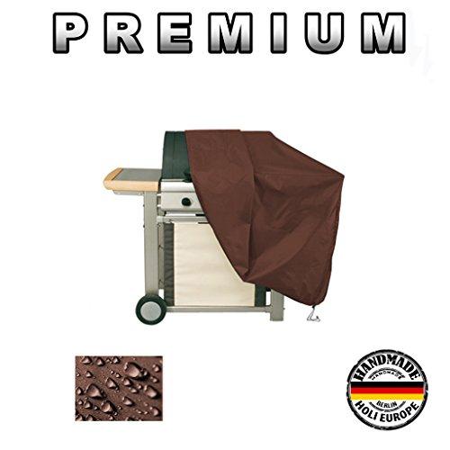 Holi Europe Premium Grillabdeckung BBQ Grill Abdeckhaube Plane Gasgrill Schutzhülle 575g /lfm (Braun, Breite 145cm x Tiefe 65cm x Höhe 115cm)