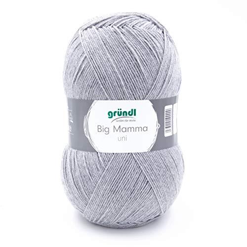 Gründl Big Mamma 2611-144 - Ovillo de lana (acrílico, 29 x 16 x 12 cm, 400 g), color gris
