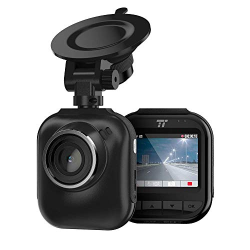 "TaoTronics 2K QHD Dash Cam, 2"" LCD Screen Car Dashboard Camera with Night Version, 160° Wide Angle Lens, G-Sensor, Parking Mode, and Emergency Recording (Renewed)"