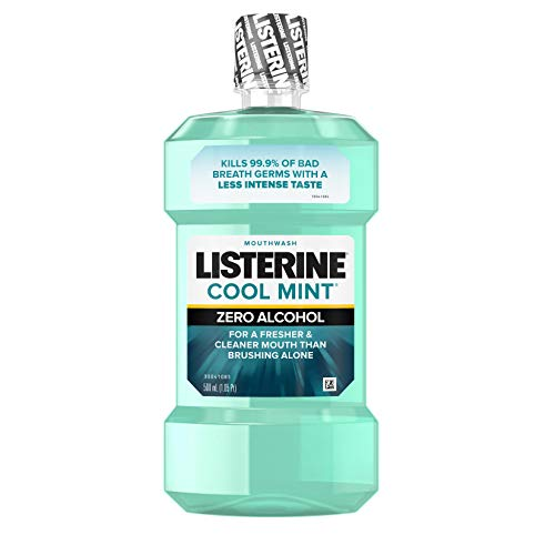Listerine Zero Cool Mint Mouthwash For Fresh Breath And To Kill Bad Breath Germs, 500 ml