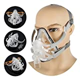 Full Face Mask Silicone Gel Cushion for Sleep with Adjustable Headgear Clips (M Size)