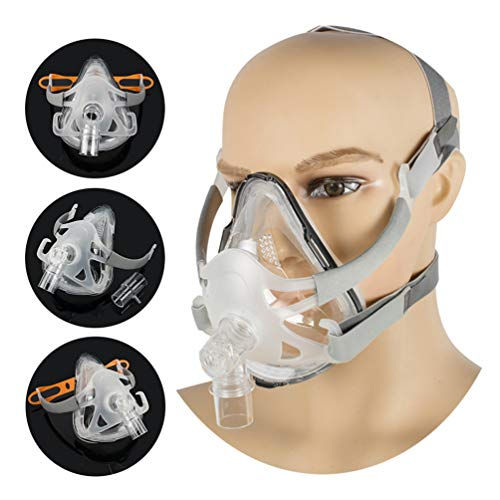 Full Face Mask Silicone Gel Cushion for Sleep with Adjustable Headgear...