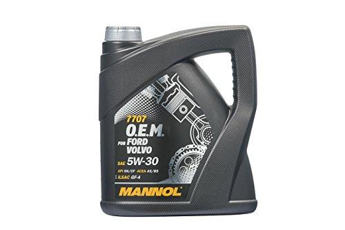 MANNOL 7707 O.E.M. 5W-30 API SN/CF for Ford Volvo Motorenöl, 4 Liter