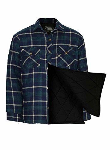 Champion camicia invernale imbottita con fodera trapuntata, da uomo Totnes Blue Medium