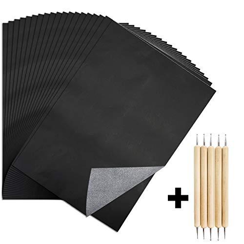130 Stücke Carbon Transferpapier Kann Mehrfach Verwendet Werden Machen Sie das Zeichnen Interessanter und Einfacher