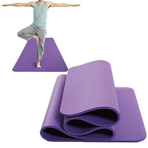 hemwoo Yoga Matt Esterilla Deporte Esteras de Yoga Esteras de Yoga para el hogar Yoga Stretch Mat Estera de Ejercicio Extra Gruesa Purple,1cm