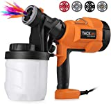 TACKLIFE Paint Sprayer, Upgraded 500watts Paint Gun 800ml/min with Three Spray Patterns, Four