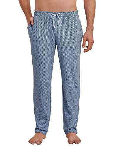 Schiesser Herren Mix & Relax Hose Lang Schlafanzughose, Blau (Indigo 824), Large (Herstellergröße: 052)