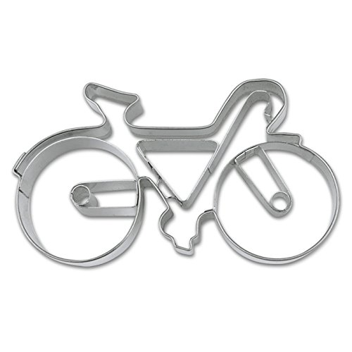 PARTY DISCOUNT NEU Ausstechform Edelstahl, Fahrrad, ca. 9 cm