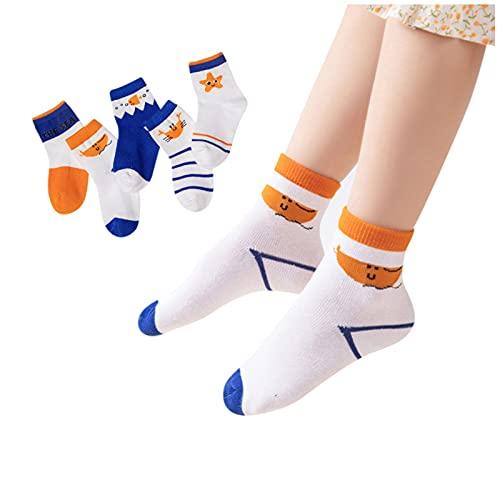 BIBOKAOKE 5 pares de calcetines para niños, calcetines de Navidad, calcetines térmicos, calcetines para niños, calcetines divertidos, coloridos, bonitos calcetines de punto.