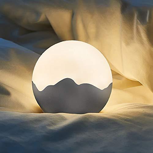 FGAITH Led-nachtlampje met ledverlichting, dimmer, nachtkastje, lampje, maanlampje, kaartlicht, kwartoog, creatieve tafellamp, aangepast slaapkamer