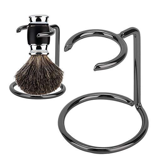 Soporte para brocha de afeitar para hombres Soporte de acero inoxidable para salón Uso en viajes en casa Soporte para brocha de afeitar para hombres Soporte para maquinilla de afeitar de acero inoxida