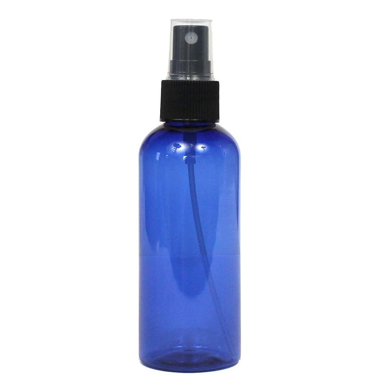 スプレーボトル 100mL ブルー黒ヘッド1本遮光性青色 おしゃれ プラスチック空容器