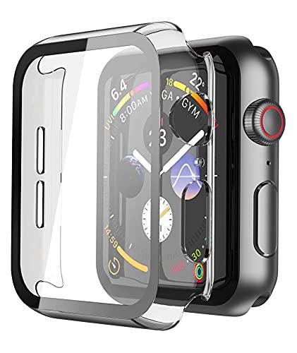 UNO' Funda Protector De Pantalla De Cristal Templado Compatible Apple Watch 40mm...