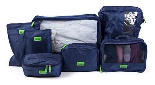 HAUPTSTADTKOFFER - Reisekoffer-Organizer Koffer-Organizer Kleidertasche Packtasche 7-teiliges Set Dunkelblau