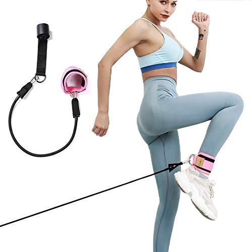 SDFDS Einstellbare D-Ring Leg Resistance Band Knöchelriemen for Fitness-Studio Seilbahn Oberschenkelrolle mit Pull-Schlauch 115 (Color : Black)