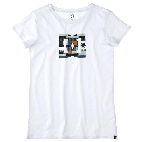 DC Shoes  - Camiseta para Mujer, tamaño 40 UK, Color Blanco