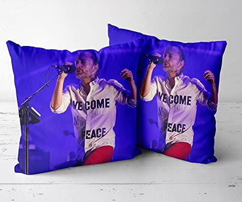Jfsmgs Sofakissen Dekorativ Kissenbezug Kissenhülle Bezug Weich für Wohnzimmer Schlafzimmer -Sänger Thom Yorke von der Band