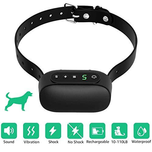 PROTAURI Anti-Bellen-Gerät -Ultraschall-Hundebellen,Ultraschall Anti Bell Halsband Erziehungshalsband Hund Rinde Abschreckung