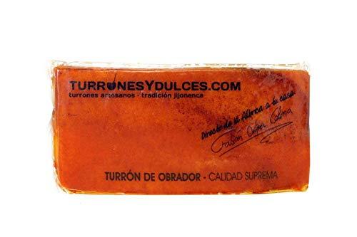 Turron de Yema Tostada 300grs Artesano, hecho a mano en Jijona