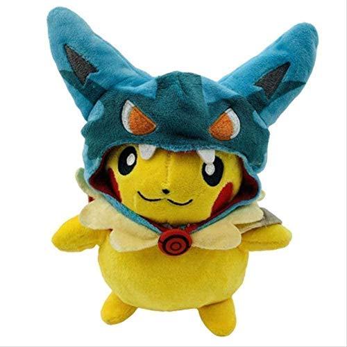 stogiit Pokemon Plush Cos Lucario Pikachu Juguetes de Peluche para niños 25Cm Linda Figura de Pokemon Pikachu muñecos de Peluche Suaves Regalos para niños