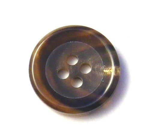 本水牛ボタン ��540 貴重な茶色 20mm