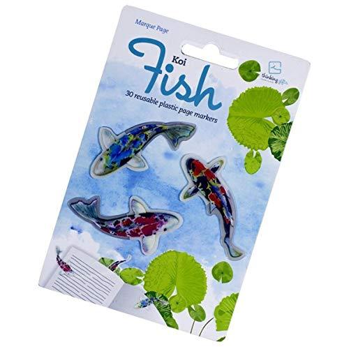 Stikki Marks Koi Fish - 30 Mini-Lesezeichen: Selbstklebend und wiederablösbar